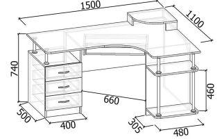 Какая стандартная высота письменного стола?